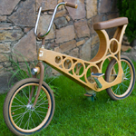 Hoopy wooden bicycle
