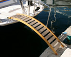 ash and teak passerelle for super yacht