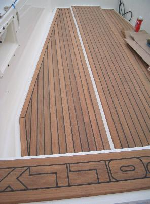 A new teak deck for Polly